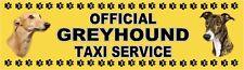 GREYHOUND OFFICIAL TAXI SERVICE Dog Car Sticker  By Starprint