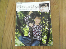 Seasons of Love, Sweaters for the Family, by Leisure Arts, Great Condition