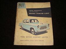 FORD PREFECTO 1959on ORIGINAL FACTORY REPUESTOS Catálogo Ref. N º no.p4751/459