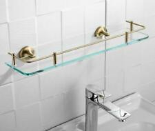 New Wall Mounted Stainless Steel&Glass Bath Cosmetic Shower Caddy Brushed Gold