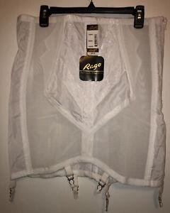 NEW Rago Women's Plus-Size High Waist Open Bottom Girdle W/Zipper 6X/42 White