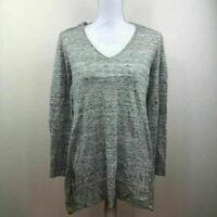 Style & Co. Womens Sweater Tunic Top Gray Sz Medium