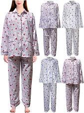 Womens Pyjamas Flower Print NightSuit Pjs Nighty Cotton Revere Collar LoungeWear
