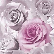 Papel Tapiz MURIVA MADISON Floral Rosa Rosa (119505) nueva característica de la pared