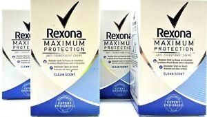 Rexona Deo Creme Maximum Protection  Antitranspirant Clean Scent 4 x 45 ml