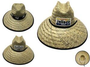 Straw Mexico Big Brim Hat Beach Ranch Cowboy Fedora Upbrim Style Sun Men Women