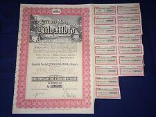 SOCIETE DES MINES D'OR DE KILO MOTO Share Certificate MINING Republic of Congo