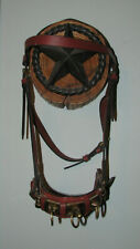 Leather Lunging Caveson Lightly Padded Nose ~ Three Rings ~ Great Condition ~