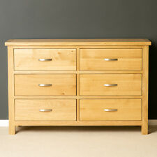 London Oak Large Chest of Drawers / Light Oak Chest / Solid Wood / Brand New