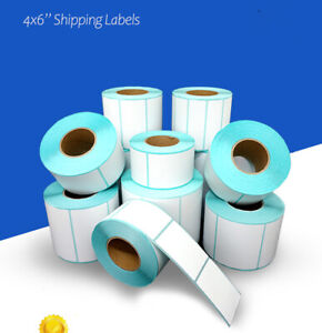 """4x6"""" Coated Shipping Labels A6 Aus Post adhesive label Thermal Transfer Paper"""