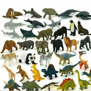 12Pcs Kids Small Plastic Figures Wild Ocean Sea Animal Dinosaur Model Toys Gift