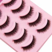 Handmade Natural Makeup Short eyelashes Thick Fake False Eyelashes Voluminous 5P