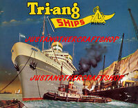 Triang Minic Ships 1962 Poster Leaflet Advert Shop Display Sign A4 size