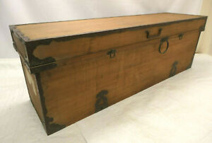 Antique Sugi Wood Tansu Chest Cupboard Japanese Clothing Chest Box C1890s #284