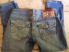 $319 True Religion Lily Super T Cropped Skinny Fit  Jeans 25