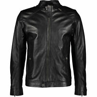 Genuine DIESEL Men's Black Leather Sheepskin Jacket, size Medium & Large