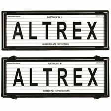 Altrex Number Plate Protector - 6 Figure Silver With Lines 6ls