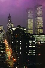 Geoffrey Clifford Purple Skies WTC Art Print Poster Poster Print, 24x36