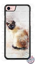 Beautiful Siamese Cat Art Design Phone Case fits iPhone Samsung LG Google etc