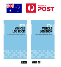 Vehicle Log Book Wildon 87w Blue Wil087 Record Travel for ATO Tax Purposes