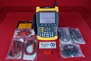 Fluke 199C 200MHz 2CH 2.5GSa/s Scopemeter with case & accessories