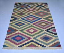 Handmade Colorful Kilim Living Room & Gust Room 4x6 Ft Cotton 1437