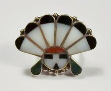 Sun Chief Ring - Size 6 1/2 - Vintage Mexico - Mcr - Sun Face with Headdress /