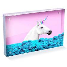 "Beautiful Magical Unicorn Horse Photo Block 6 x 4"" - Desk Art Office Gift #15908"