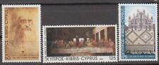 Cyprus 1981 Leonardo Da Vinci Visit SG 569/71 MNH  3-stamp set.
