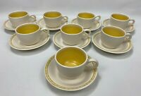16pc -VTG Franciscan Earthenware Hacienda Gold Coffee Cup & Saucer (1965-1983)