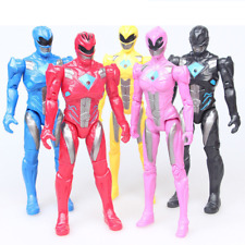 5pc Set Power Rangers The Movie 2017 17cm Action Figures with Light Toy Gift