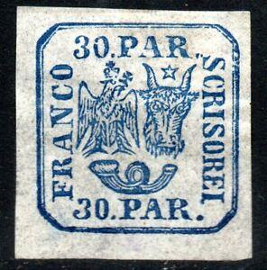 Romania Moldavia 1862 30 pa Coat of Arms Scott 18 Mint Hinged