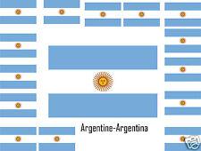 Assortiment lot de 25 autocollants Vinyle stickers drapeau Argentine-Argentina