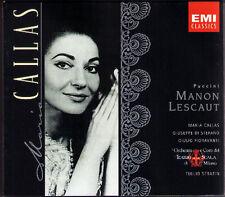 PUCCINI: MANON LESCAUT Maria CALLAS Di Stefano Fioravanti SERAFIN EMI 2CD Scala