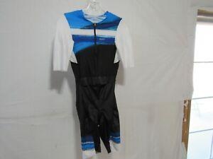 Louis Garneau Aero Tri Shorts Men's Medium Blue Wave Retail $309.99