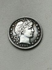 coin Quarter dollar 1897 year  Barber S
