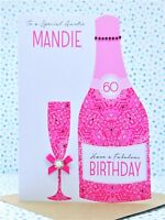 Large Luxury Personalised Handmade Birthday Card 18th,21st,30th,40th,50th,60th