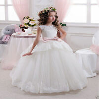 NEW Communion Party Prom Princess Pageant Bridesmaid Wedding Flower Girl Dress&