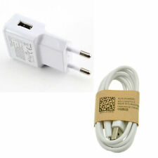 EU Plug White For Samsung Galaxy S4 Micro USB Data Cable+ Home Wall Charger