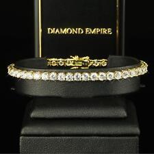 Reloj Mujer 19 cm Circonia Blanco Auténtico SERIE 750 Oro Dorado b1029-1