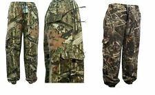 Mens Camouflage Jungle Forest Tree Print Fleece Camo Bottom M-5XL