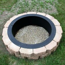 DIY Fire Pit Campfire Ring Wood Burning Outdoor Patio Rim Large Round Fireplace