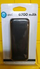 Onn Portable Battery Power Bank, 6700 mAh, Black, Brand New Sealed, A2