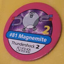 #81 MAGNEMITE PINK CHIP Pokemon master trainer Part Piece Board Game Original
