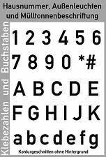 Hausnummer in Folie geschnitten bis 24 cm Schrifthöhe Klebebuchstaben Klebezahl