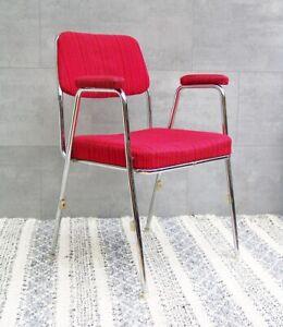 #4591 - 1/2 MAUSER Stuhl - 60er Jahre - Stahlrohr - Chrom