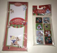 🎄🎄Christmas Rudolph Magnetic 40 Sheet Notepad & 8 Pack Of Rudolph Erasers🎄🎄