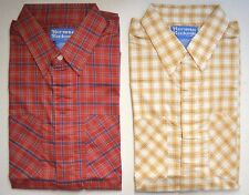 Lot Vintage NORMAN ROCKWELL by HABAND Men's S/S Plaid Shirts -Small