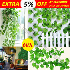 60X 2.4M Artificial Ivy Leaf Vine Plant Garland Fake Foliage Green Wedding Party
