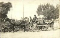 Los Angeles CA Southern Counties Gas Co Advertising Wagon c1910 RPPC xst
